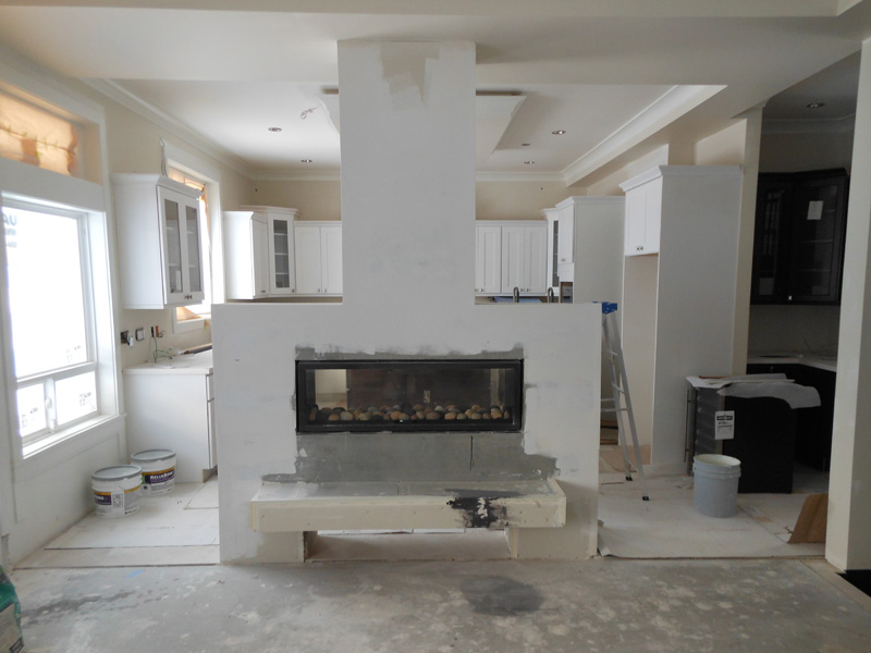 Kitchen Fireplace - Construction