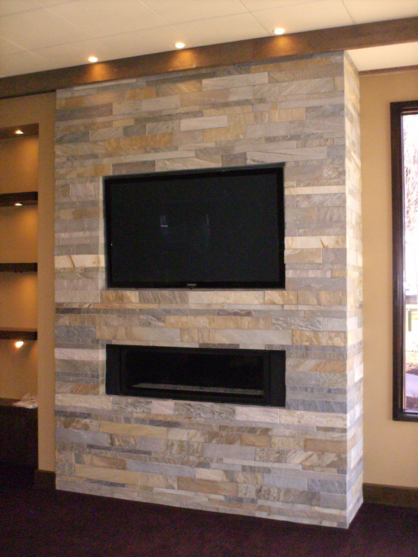 Fireplace ceramic tile